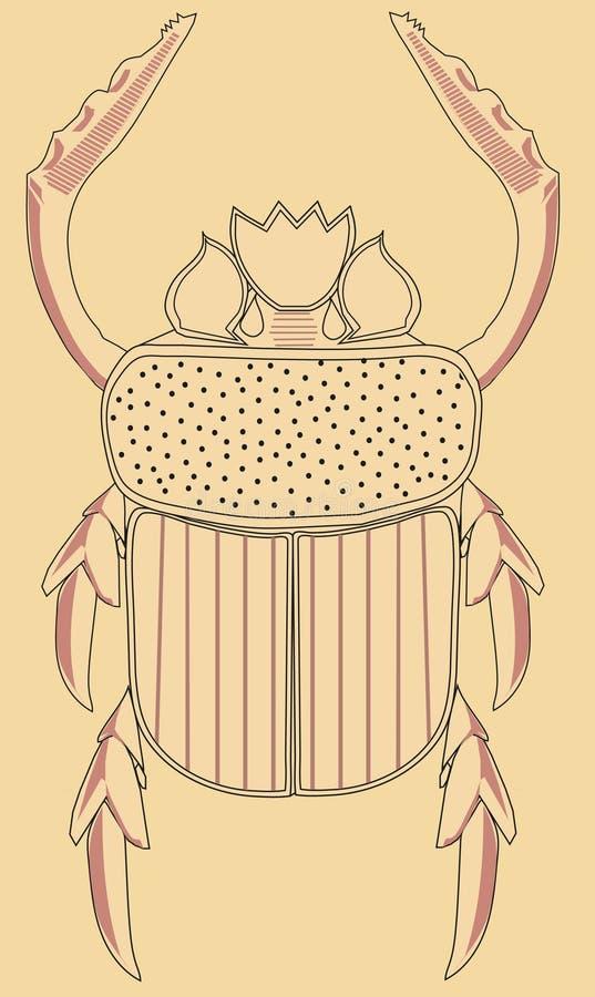 砂岩金龟子 向量例证