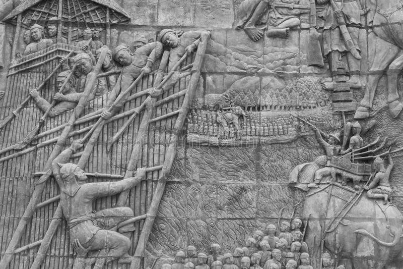 砂岩雕刻 免版税库存照片