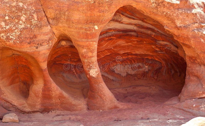 砂岩洞 免版税图库摄影