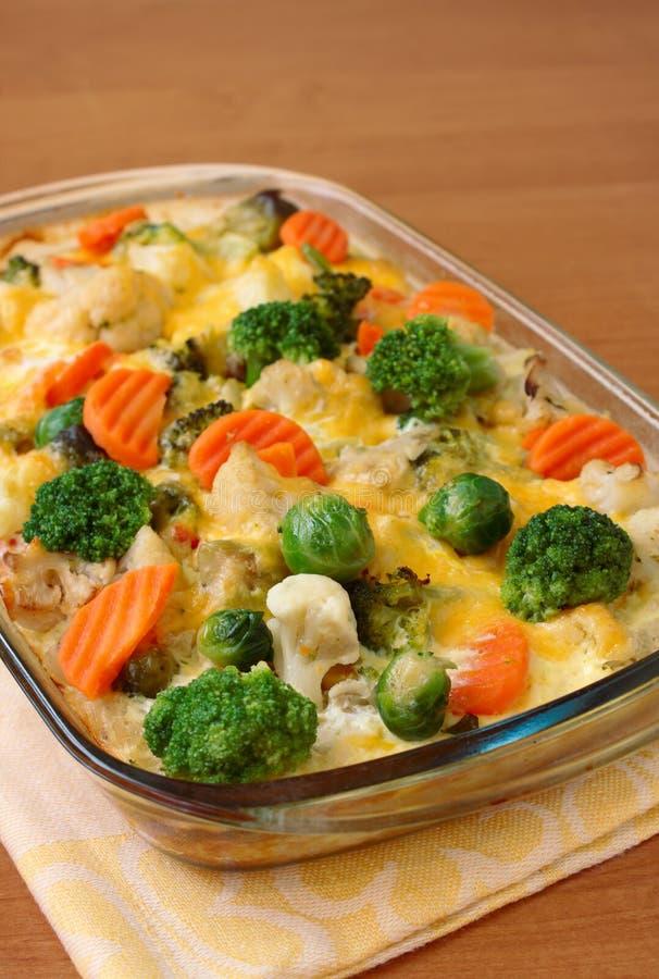 砂锅蔬菜 库存照片