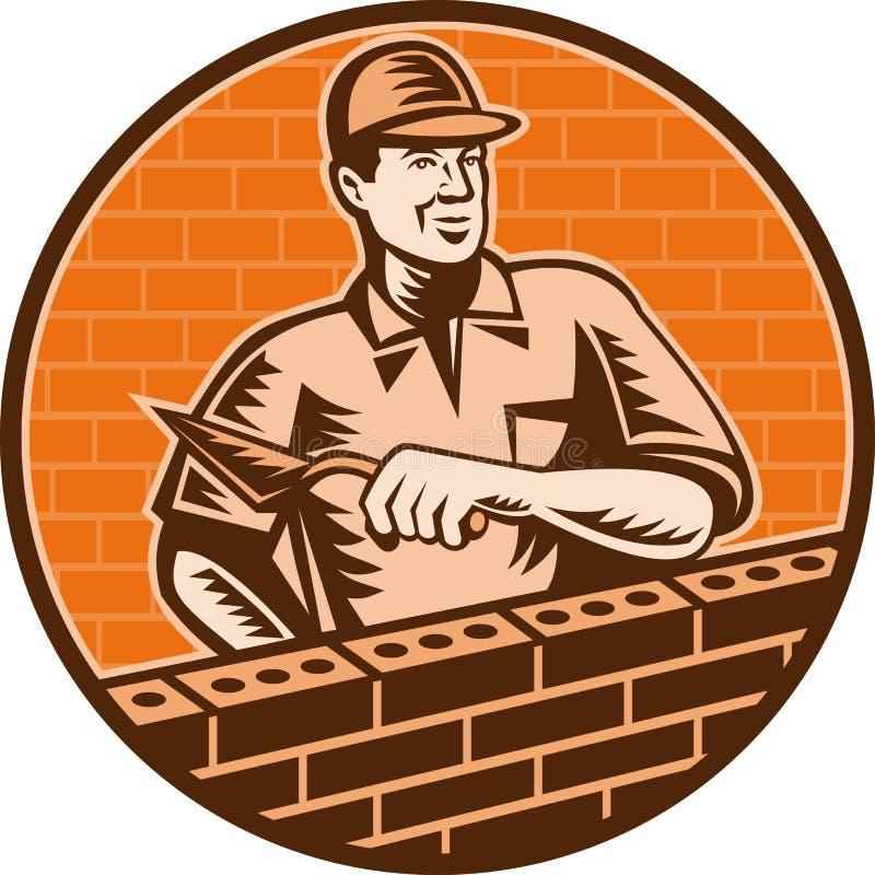 砌砖工泥工修平刀工作者 皇族释放例证