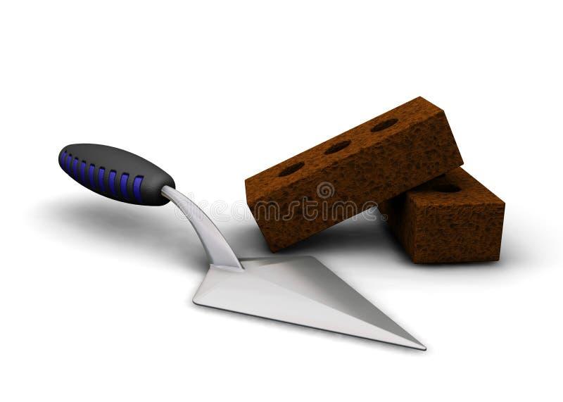砌砖镘刀 向量例证