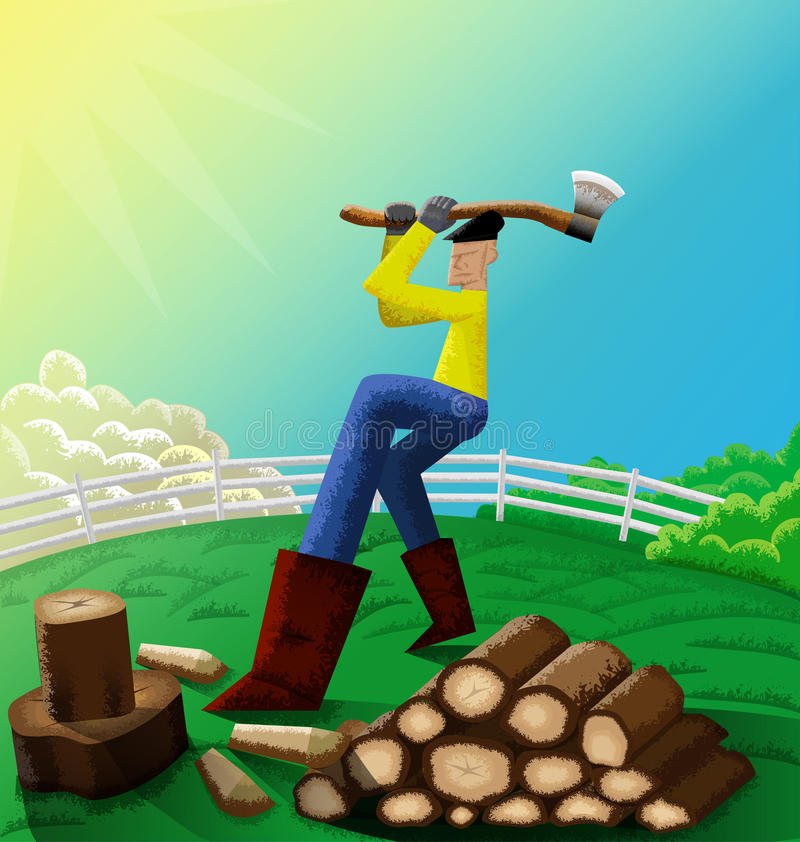 砍人木头 免版税库存图片