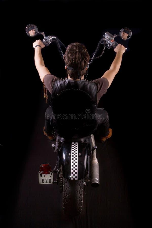 砍刀摩托车车手 库存图片