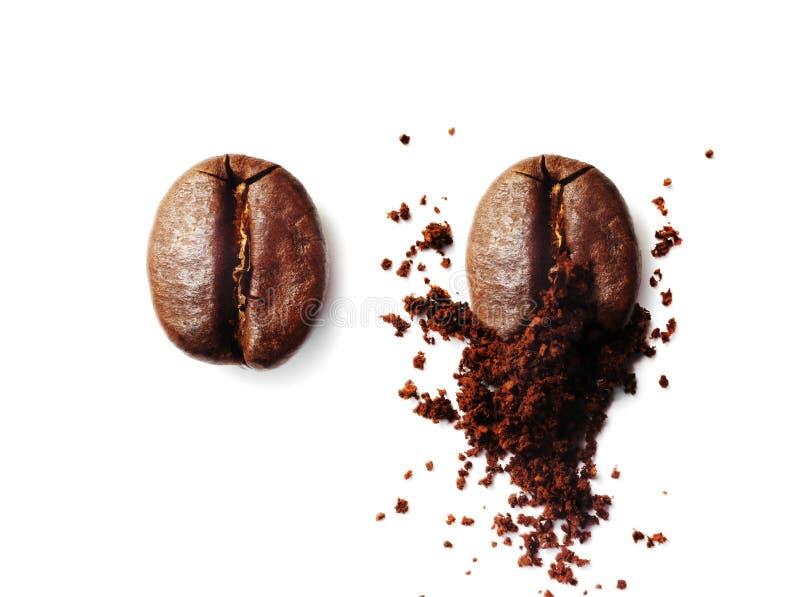 研的咖啡豆 免版税图库摄影