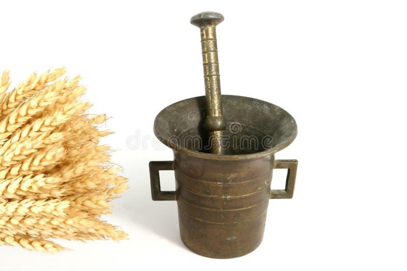 研的麦子 免版税库存照片