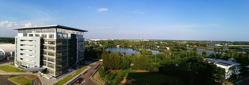 研究和创新大厦,泰国的大学 免版税库存照片