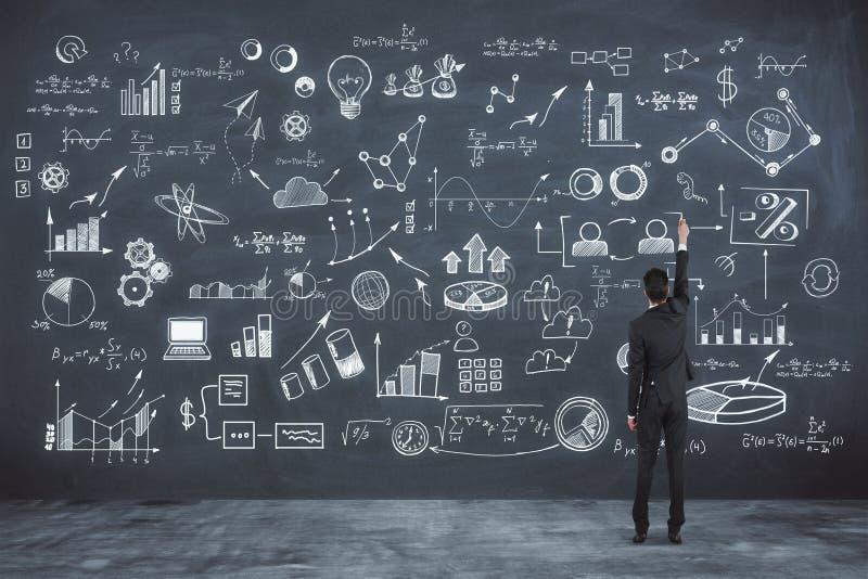 研究和成功概念 库存例证