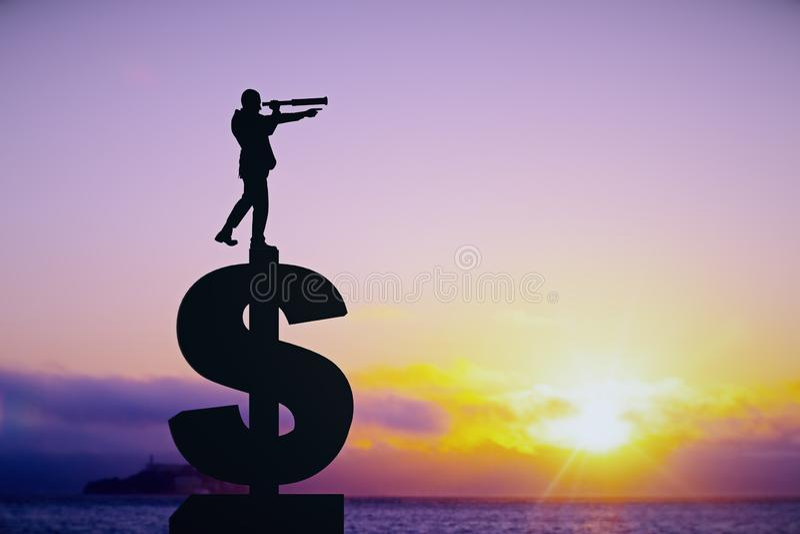 研究和收入概念 免版税图库摄影