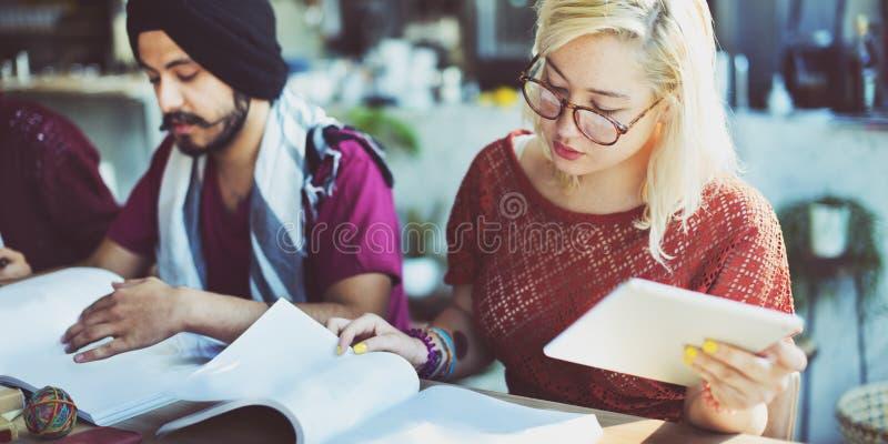 研究学生教育大学家庭作业概念 图库摄影
