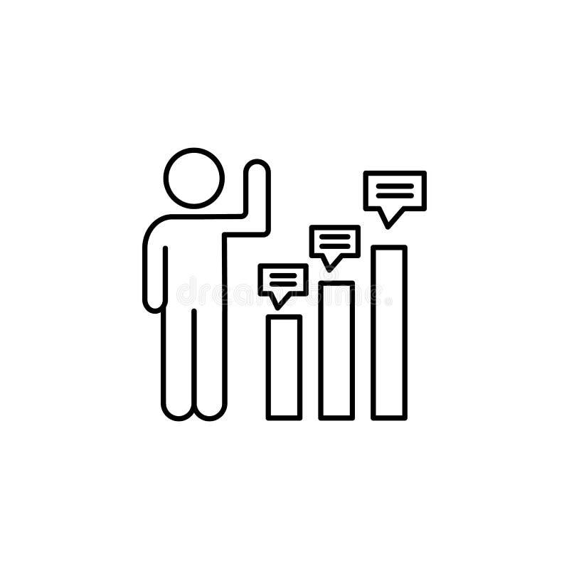研究定量成长象 消费者行为线象的元素 向量例证