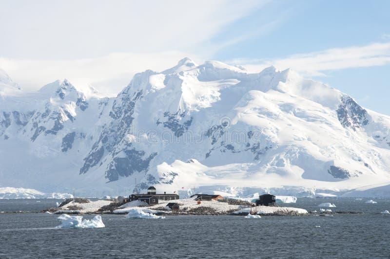 研究工作站在南极州 图库摄影