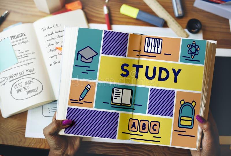 研究教育学校课程知识概念 图库摄影
