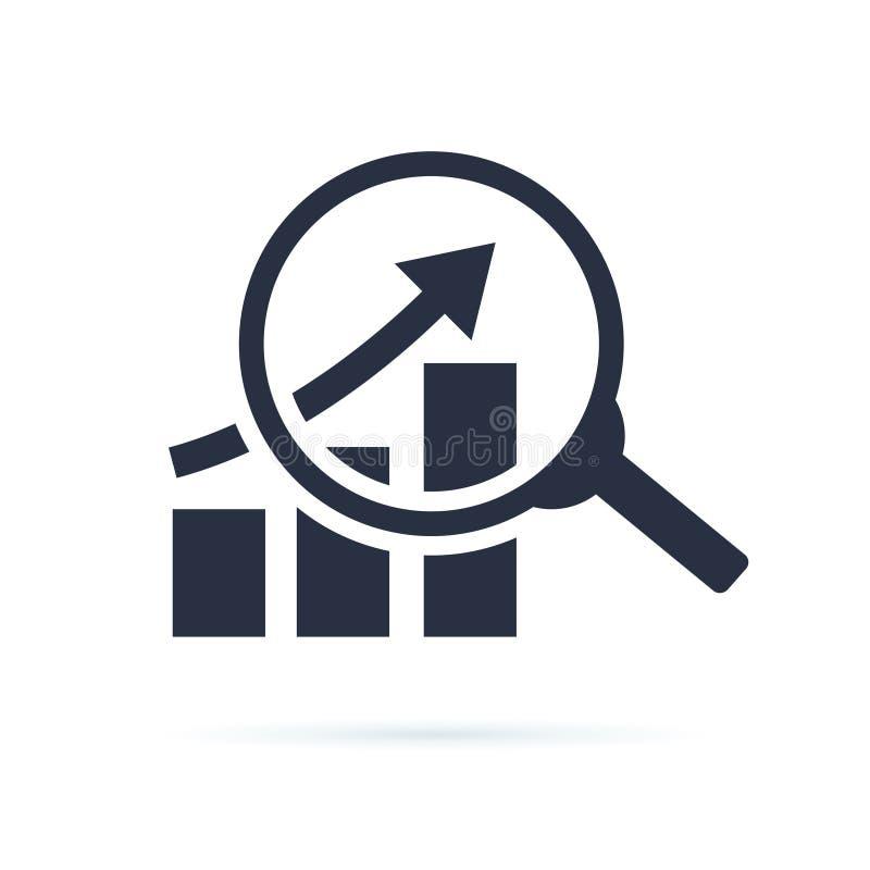 研究象,分析在白色背景传染媒介例证隔绝的企业线性标志eps10 财政事务 向量例证