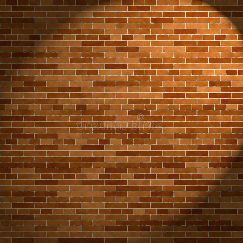 砖光线墙壁 库存例证
