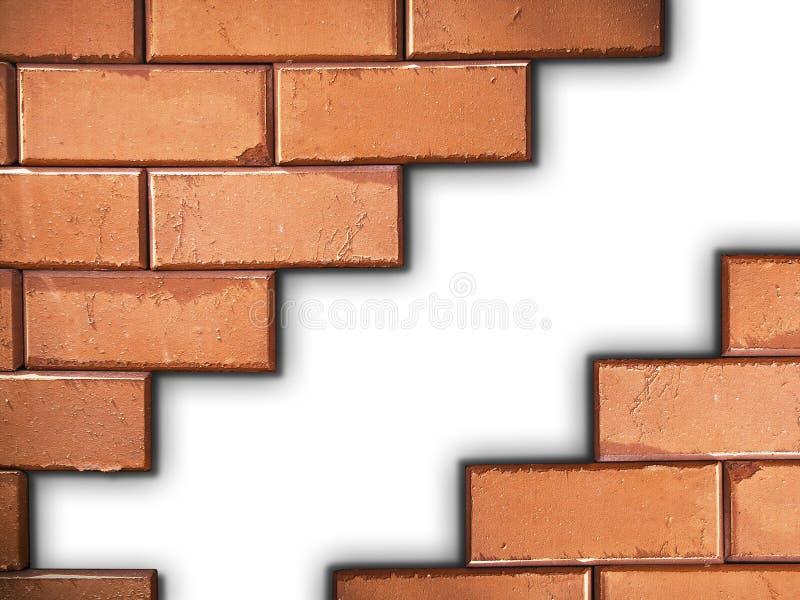 砖分隔的墙壁 免版税库存照片