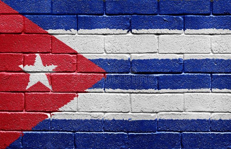 砖古巴标志墙壁 库存照片
