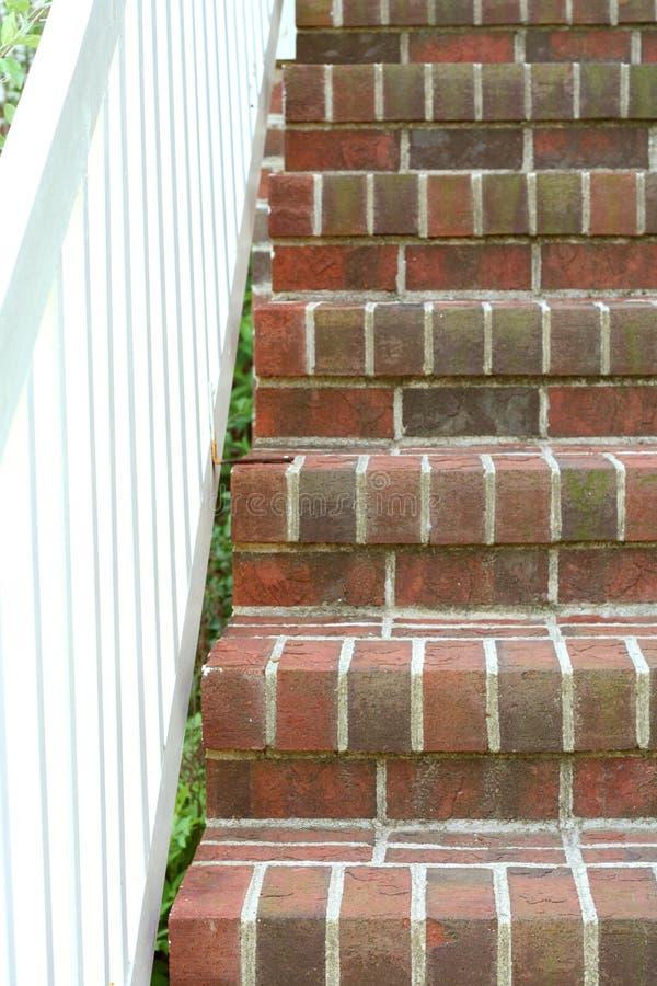 砖台阶 库存图片