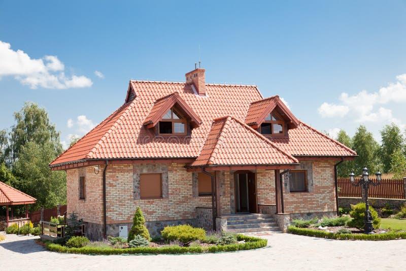 砖唯一系列的房子 免版税库存图片
