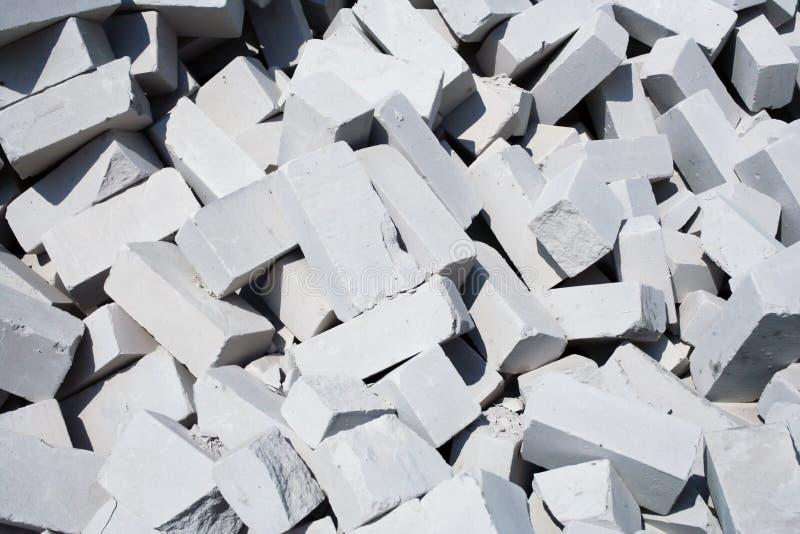 砖堆白色 免版税库存图片