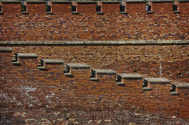 砖堡垒墙壁 免版税库存图片