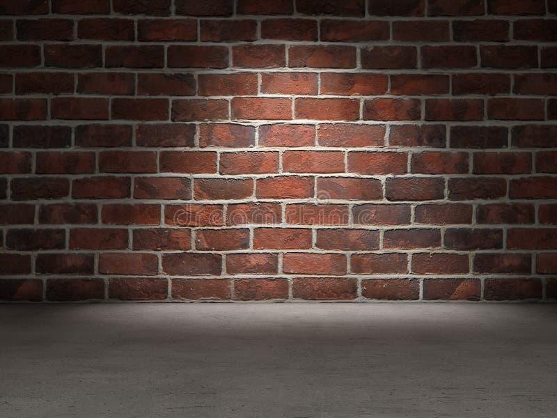 砖墙混凝土地板 免版税库存照片