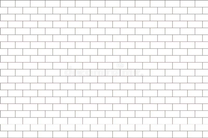 砖墙样式 白色和灰色表面背景 块和水泥建筑 抽象砖砌纹理 ?? 向量例证