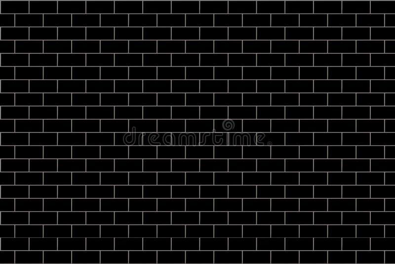 砖墙样式 黑和灰色表面背景 块和水泥建筑 抽象砖砌纹理 ?? 库存例证