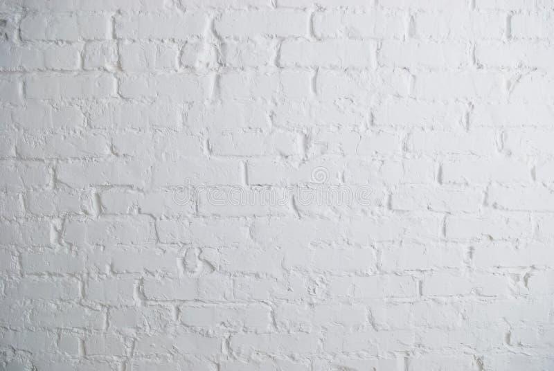 砖墙白色 免版税库存照片