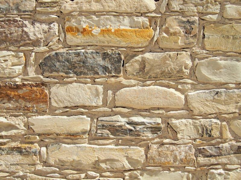 砖墙纹理,米黄颜色,中等大小 免版税库存图片