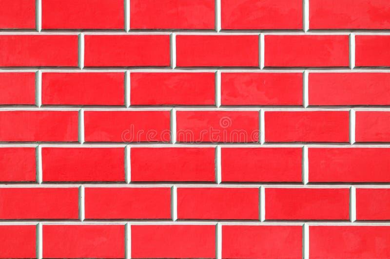 砖墙背景-新的红砖墙壁样式 免版税库存图片