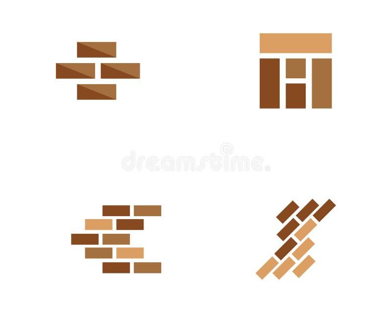 砖墙象传染媒介 库存例证