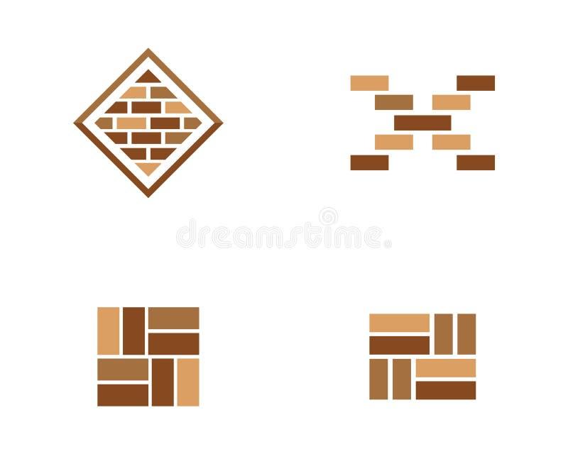 砖墙象传染媒介 向量例证