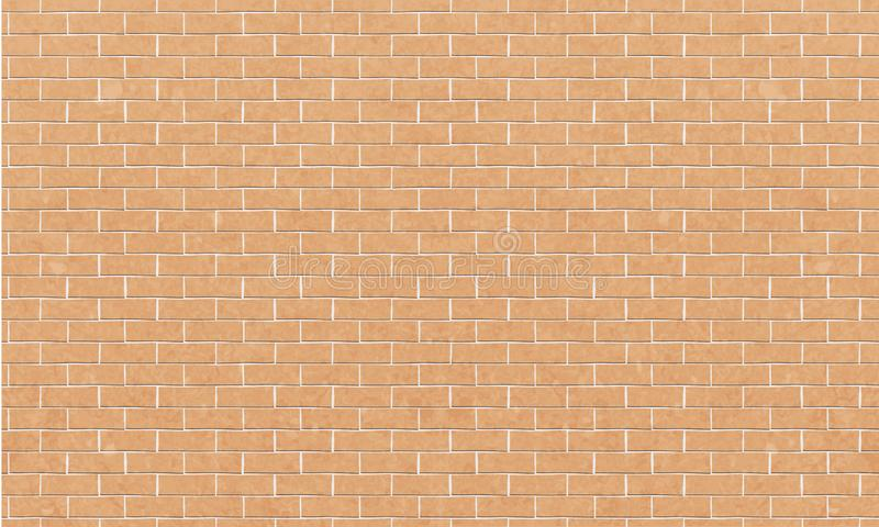 砖墙,图形设计的,传染媒介黄色白色砖墙纹理背景 皇族释放例证