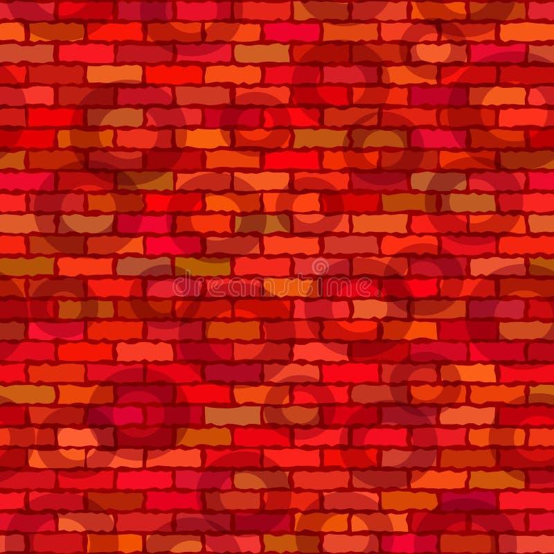 砖墙,无缝 皇族释放例证