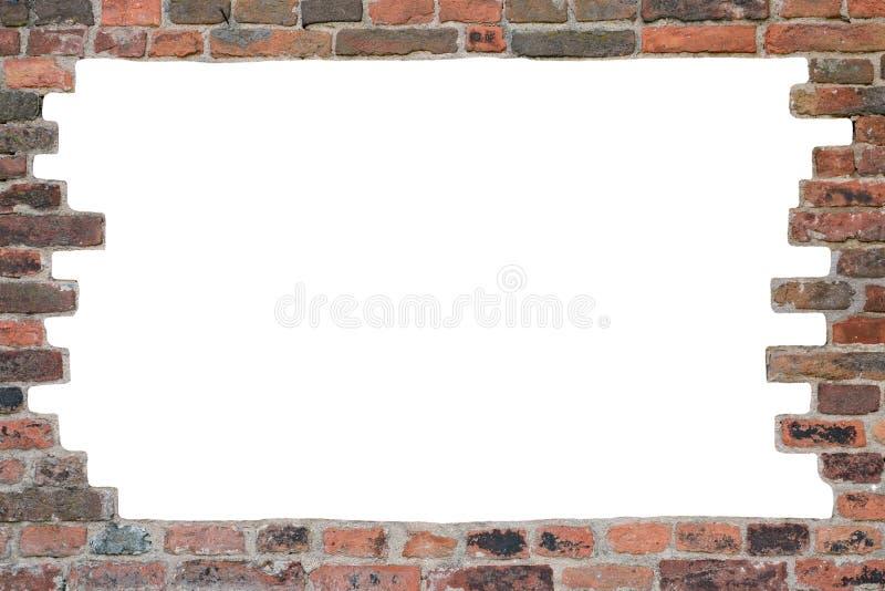 砖墙-框架 免版税库存图片
