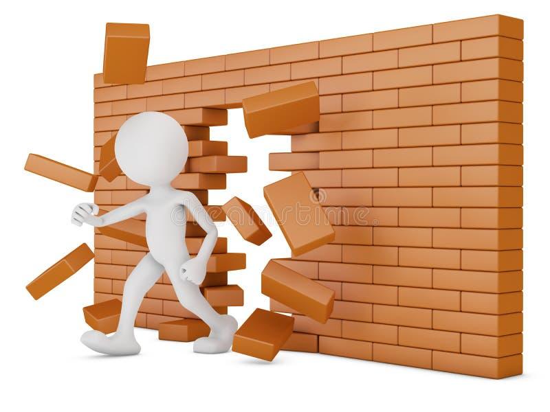 砖墙 向量例证