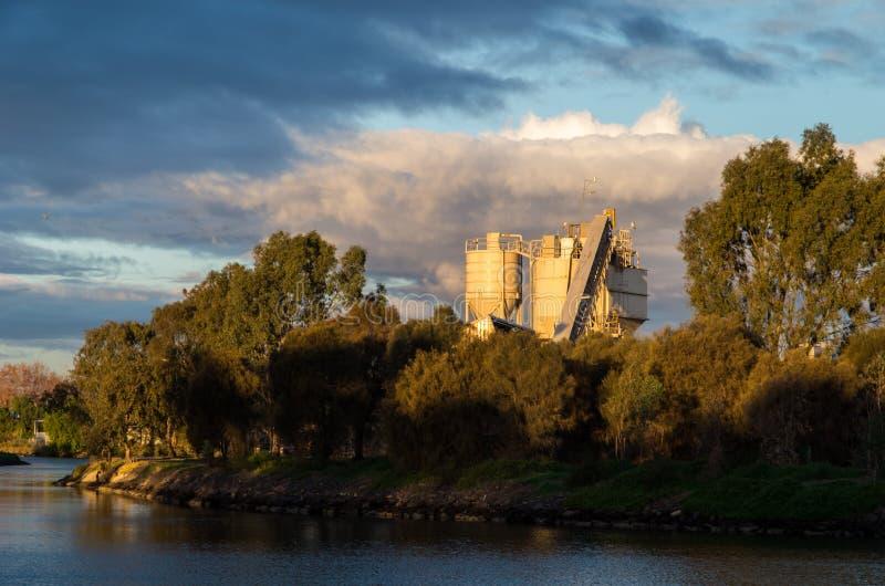 砖工厂在Footscray 免版税库存图片