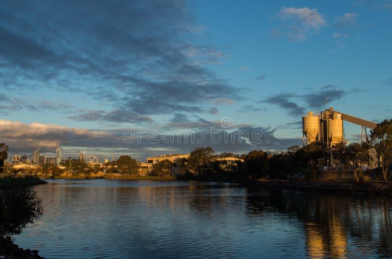 砖工厂在Footscray 库存图片