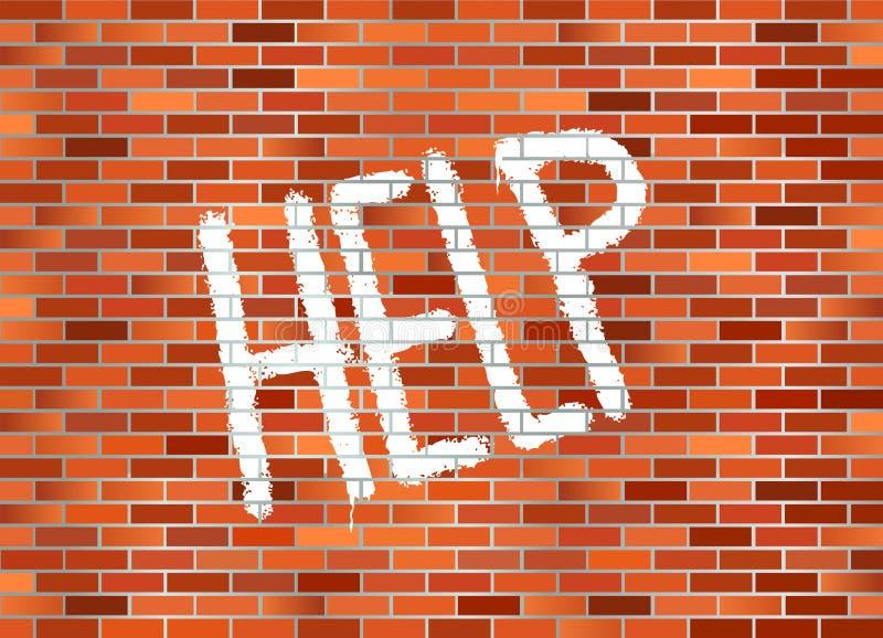 砖帮助墙壁 皇族释放例证
