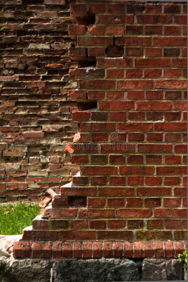 砖废墟 免版税库存图片