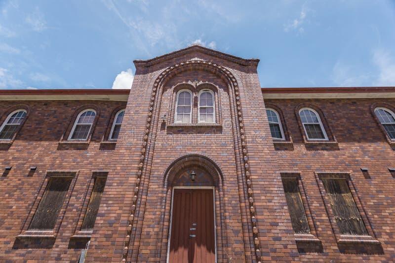 砖房子的正面图 图库摄影