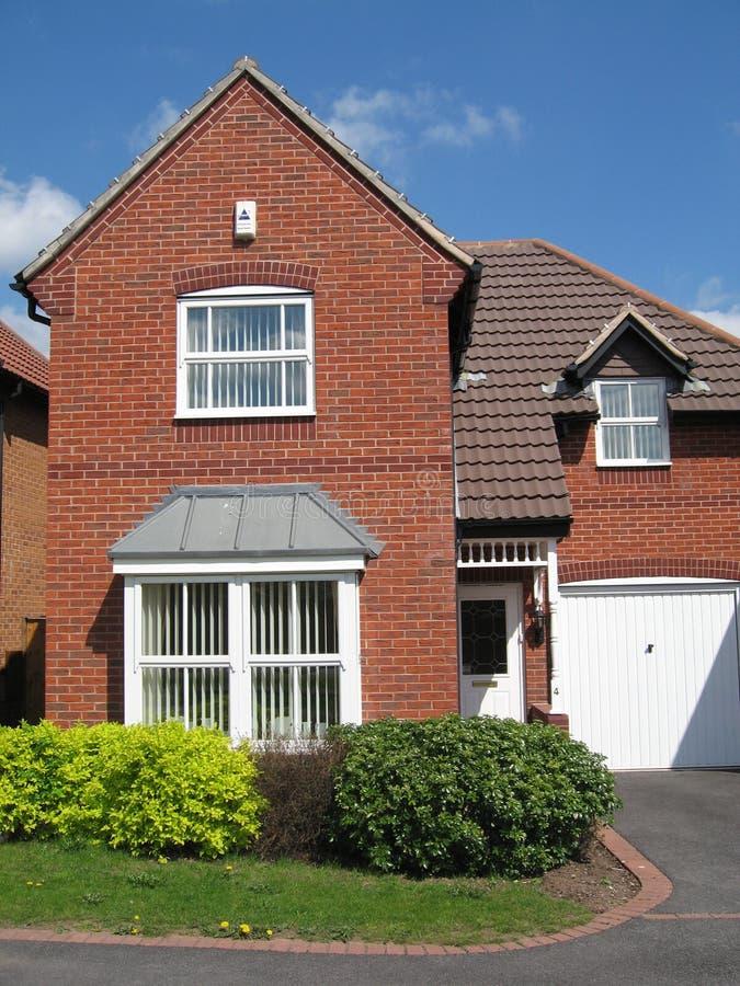 砖房子红色英国 免版税库存照片