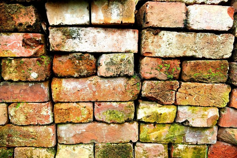 砖按顺序 免版税库存照片