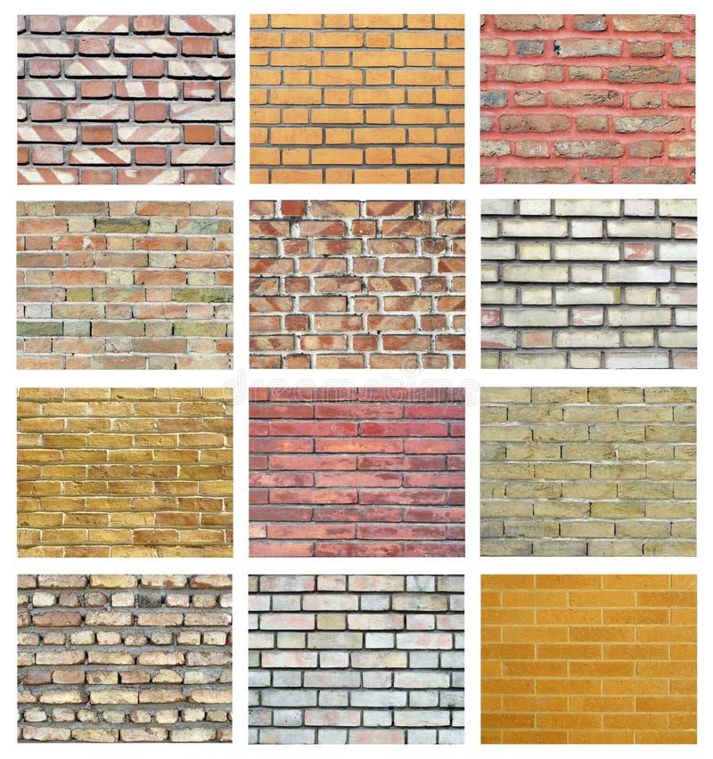 砖收集墙壁 库存照片