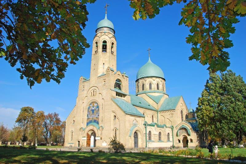 砖教会在乌克兰 图库摄影