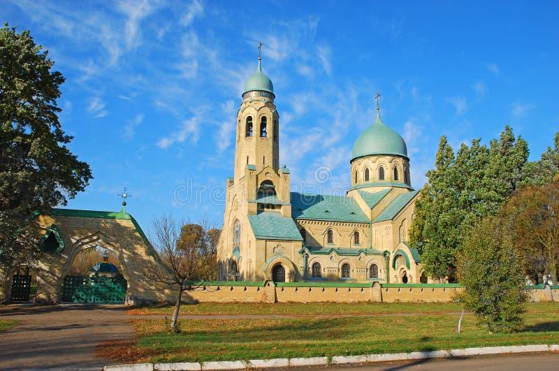砖教会在乌克兰 免版税库存照片