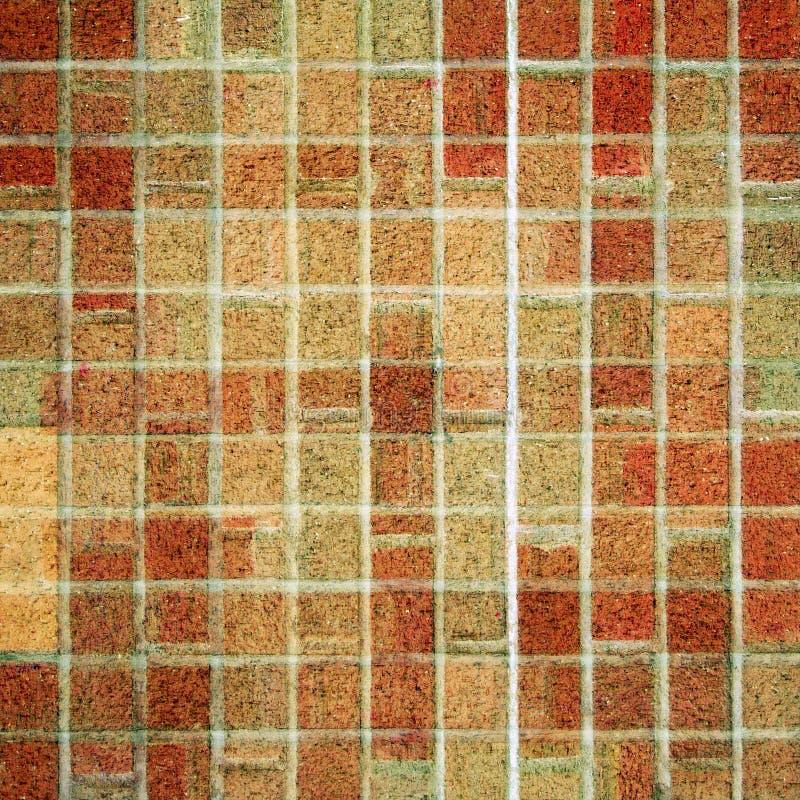 砖方形瓦片 库存图片