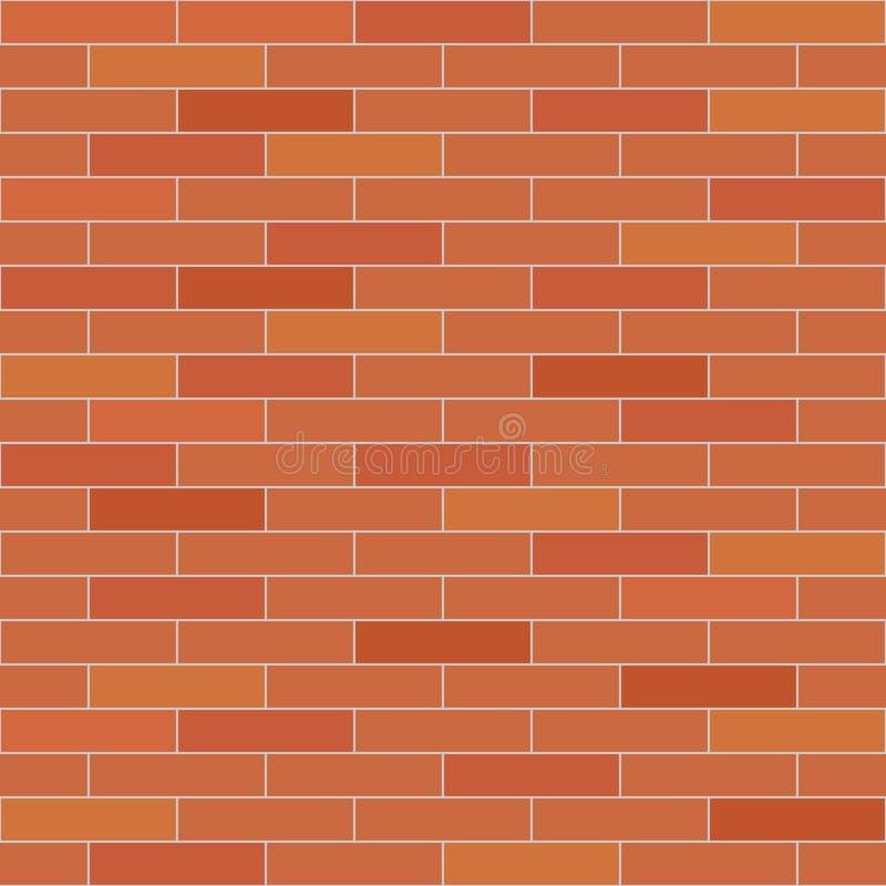 砖无缝的墙壁 向量例证