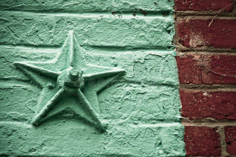 砖星形墙壁 免版税库存图片